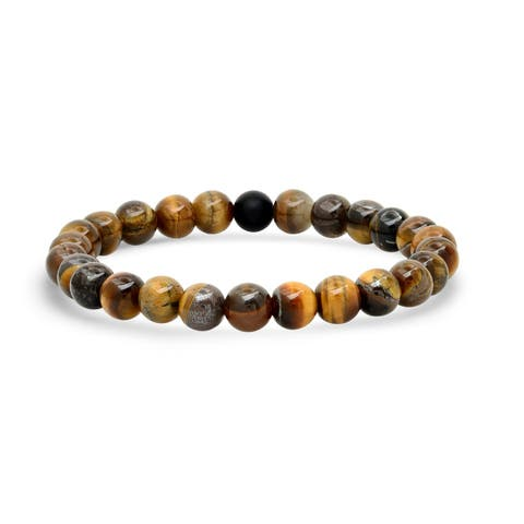 Men Spiritual and Healing Stone Beaded Stretch Bracelet