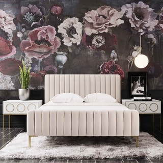 Link to Silver Orchid Chatterton Velvet Bed Similar Items in Bedroom Furniture