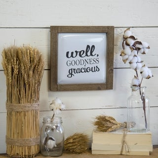 "Wooden metal sign ""Goodness"""