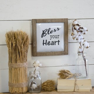 """Wooden metal sign """"Bless"""""""