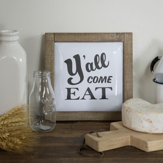 "Wooden metal sign ""Ya'll"""