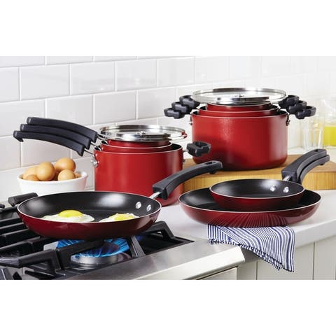 Farberware Neat Nest Space Saving 6-Piece Aluminum Saucepot Set