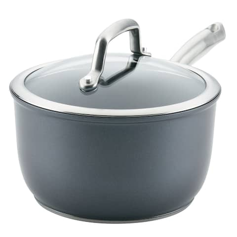 Anolon Accolade Forged 2.5 Qt. Hard-Anodized Saucepan, Moonstone