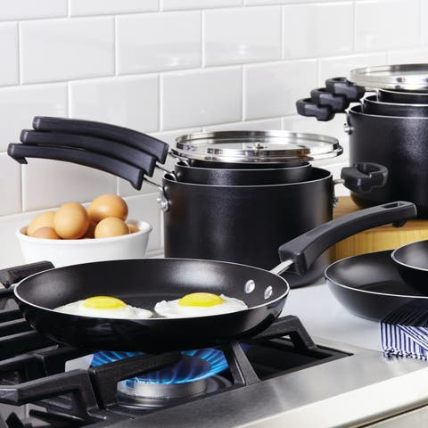 Farberware Neat Nest Space Saving 13-Piece Aluminum Cookware Set