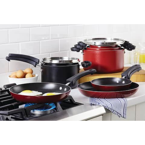 Farberware Neat Nest Space Saving 4-Piece Aluminum Saucepan Set