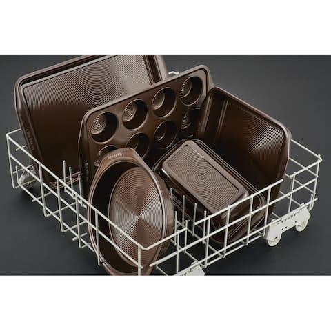 "Circulon Chocolate Nonstick Roaster with U-Rack, 17"" x 13"", Brown"