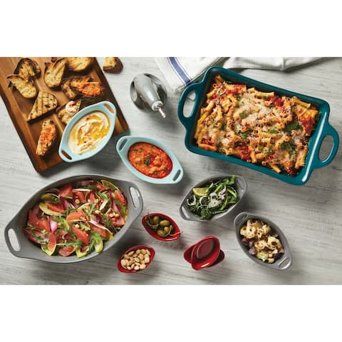 Rachael Ray Ceramics Oval Dipping Cups, 4-Piece