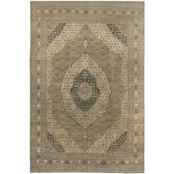 Antique Haj Jalili, Handknotted Wool Rug - 9'2'' x 13'3''/9' x 12'