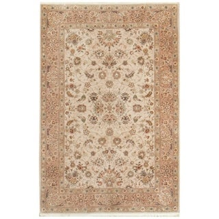 Vintage Oriental, Handknotted Wool and Silk Rug - 4' x 6'