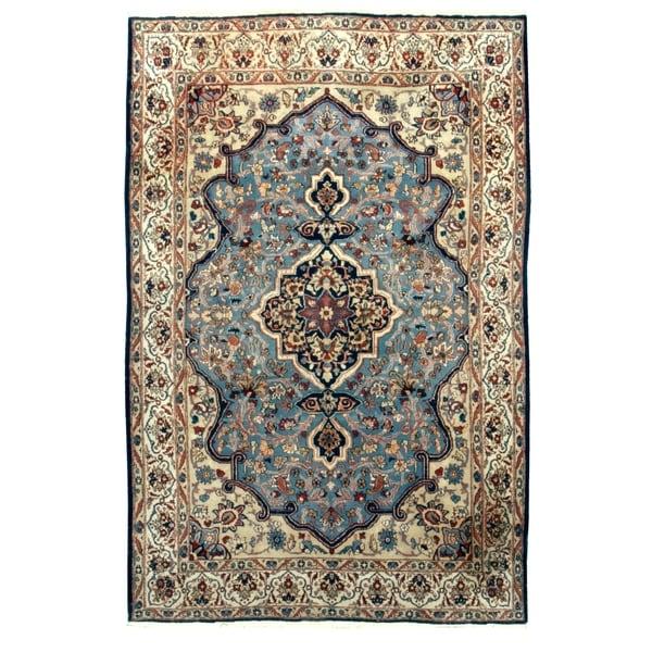 Vintage Oriental, Handknotted Wool Rug - 5' x 8'/4'11'' x 7'8''