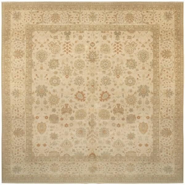 Handknotted Wool Tabriz Rug - 14' x 14'/14'1'' x 14'3''