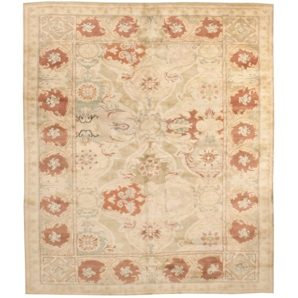 Handknotted Wool Axeminister Rug - 8'1'' x 9'9''/8' x 10'