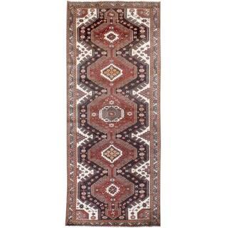 Vintage Oriental, Handknotted Wool Rug - 4'3'' x 10'4''/4' x 10'