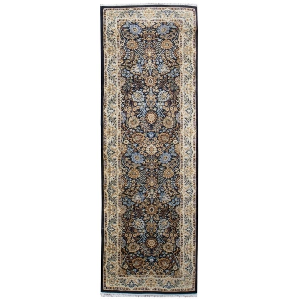 Vintage Oriental, Handknotted Wool Rug - 3' x 8'/2'7'' x 7'11''