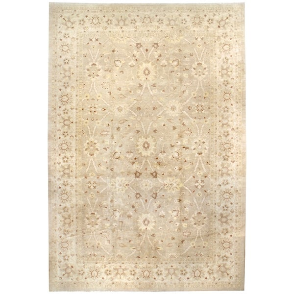 Oushak, Handknotted Wool Rug - 12'1'' x 17'10''/12' x 18'