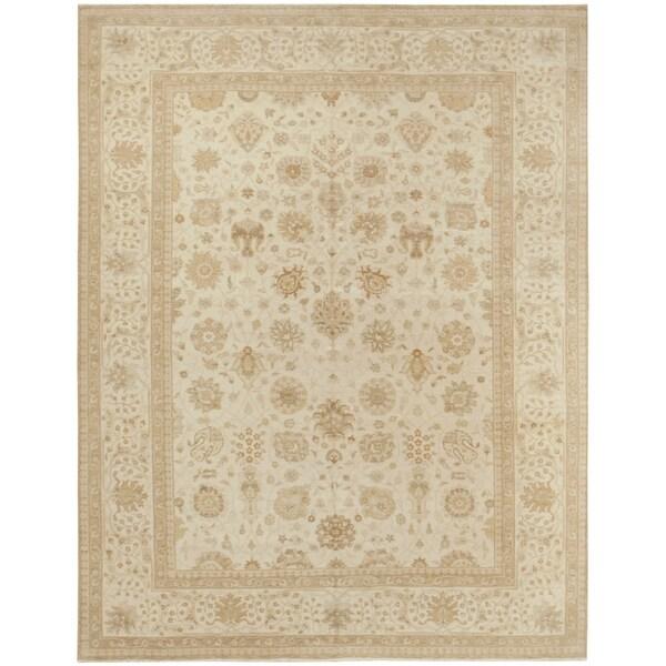 Handknotted Wool Tabriz Rug - 8'11'' x 11'5''/9' x 12'