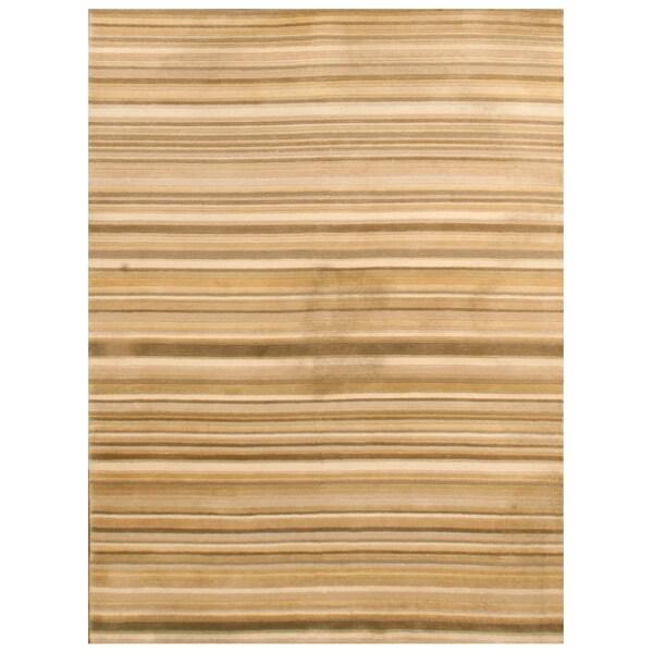 Handknotted Wool Zeigler Rug - 5'9'' x 8'7''/6' x 9'