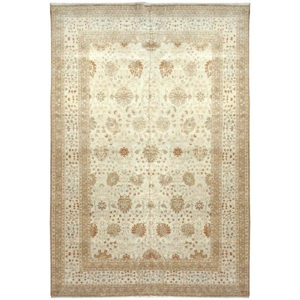 Handknotted Wool Tabriz Rug - 9' x 12'/8'6'' x 12'7''