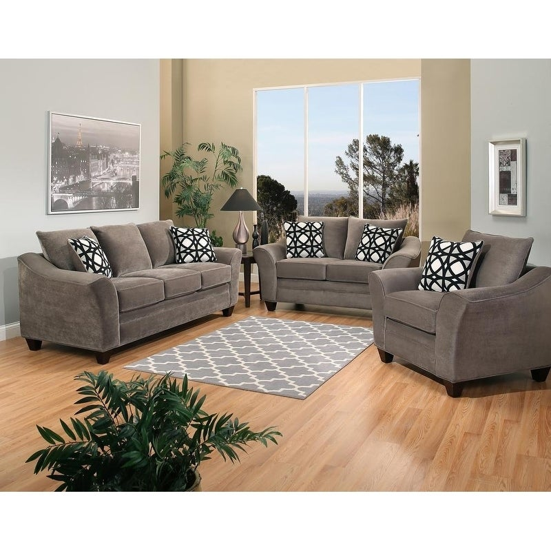 Jennifer 3 Piece Sofa Set W King Chair