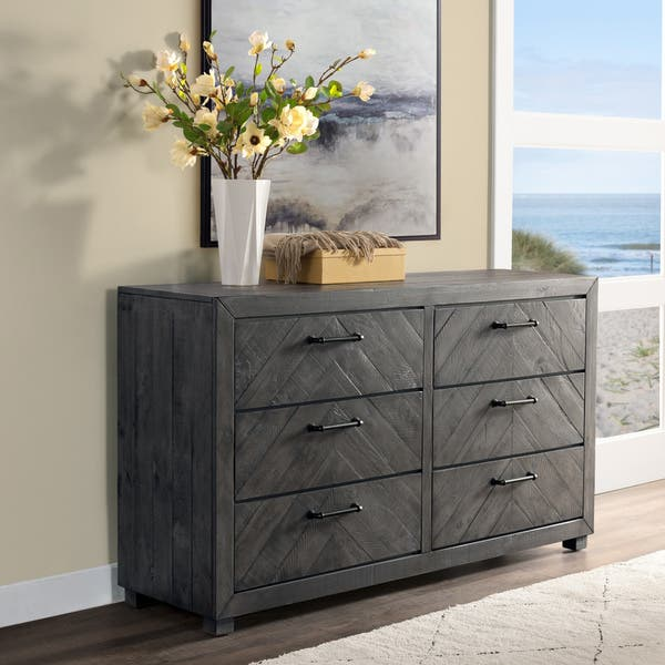 Carbon Loft Curtin 6 Drawer Grey Stain
