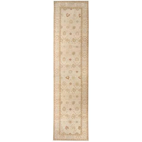 Handknotted Wool Tabriz Runner - 5' x 20'/4'10'' x 19'11''