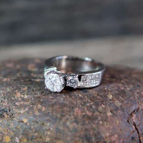 14K White Gold 1 2/3 ct. Diamond Ring By Beverly Hills Charm
