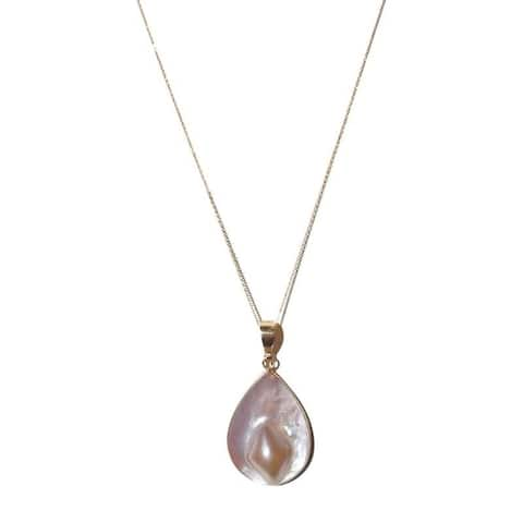 Blister Pearl Pendant with Gold