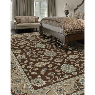 Kennedy Jacobean Border Brown Area Rug