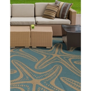 Prisom Starfish Blue Indoor/Outdoor Area Rug