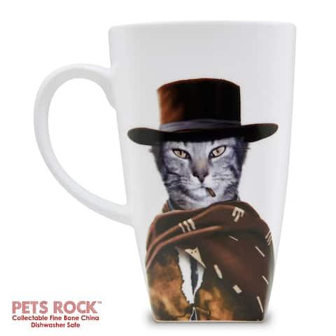 "Pets Rock ""Western"" Collectible Fine Bone China Mug"