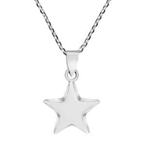 Handmade Stellar Little Star 925 Sterling Silver Pendant Necklace Thailand