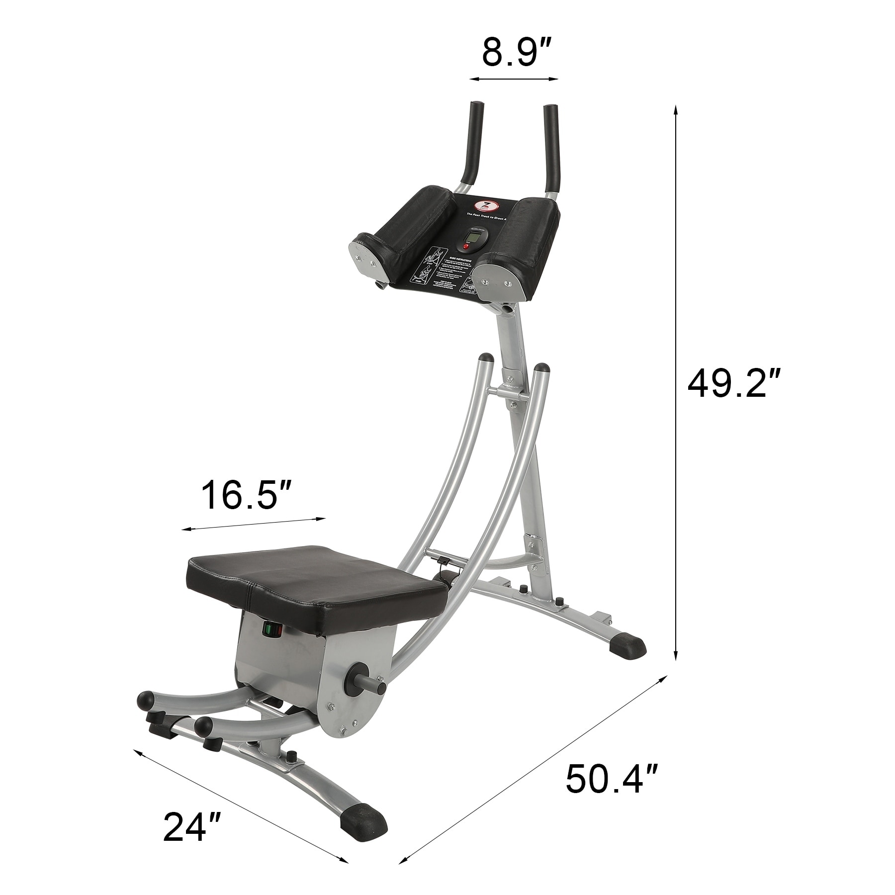 Shop Abdominal Coaster Ab Trainer Fitness Equipment Exercise Home Gym Overstock 28666590