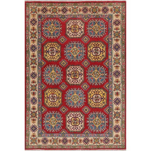 "Kazak Oriental Traditional Hand Knotted Wool Pakistani Area Rug - 7'3"" x 5'0"""