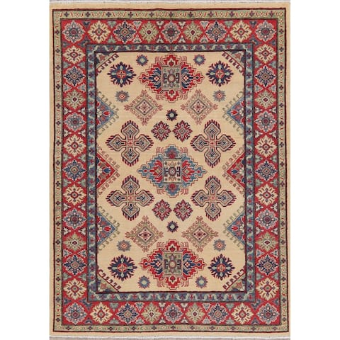 "Oriental Kazak Traditional Hand Knotted Wool Pakistani Area Rug - 6'11"" x 5'1"""
