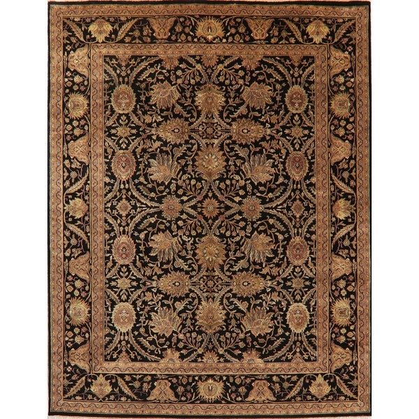 """Agra Oriental Wool Traditional Hand Knotted Indian Area Rug - 10'1"""" x 7'11"""""""