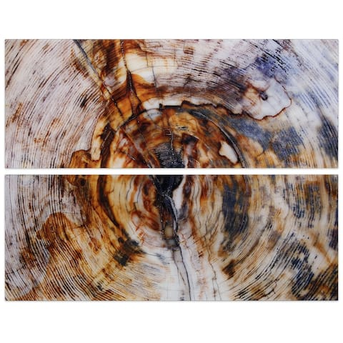 """""""Impact"""" Abstract Wall Art Printed on Frameless Free Floating Tempered Glass Panel - Brown"""