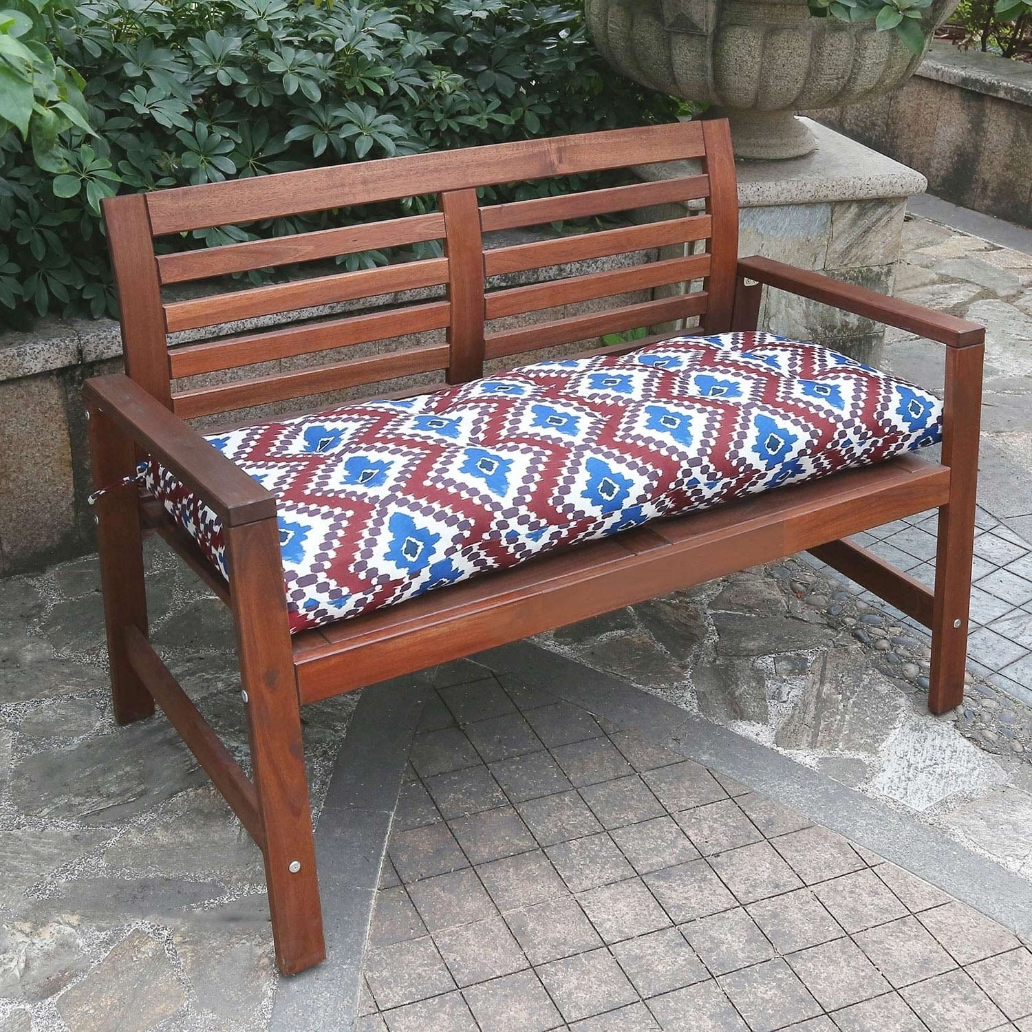 Shop Black Friday Deals On Red Ikat Bench Cushion By Havenside Home On Sale Overstock 28667504