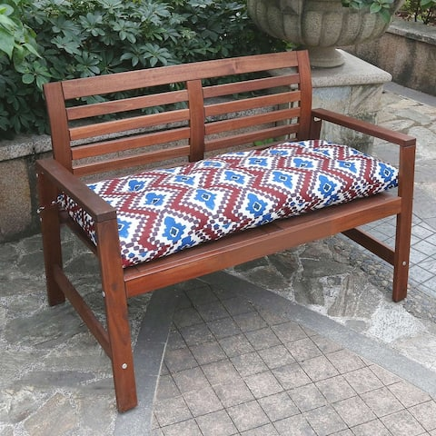 Strick & Bolton Chia Red Ikat Bench Cushion