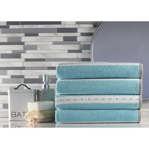 Freshee Bath - 4-pack Bath Towel Set -Stripe