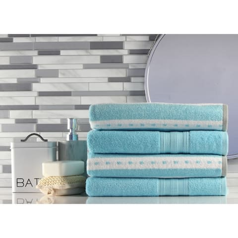 Freshee Bath - 4-pack Bath Towel Set - Solid/Stripe