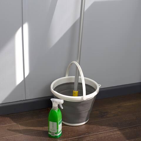 10 LT Collapsible Plastic Bucket, Grey