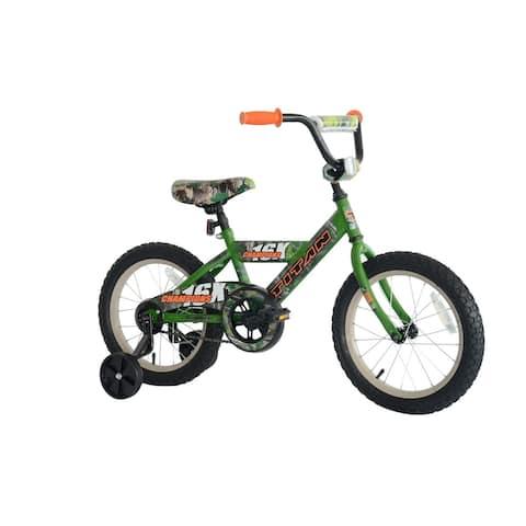 TITAN Champions 16-Inch Boys BMX Bike with Training Wheels, Camo