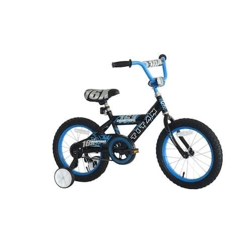 TITAN Champions 16-Inch Boys BMX Bike with Training Wheels, Black