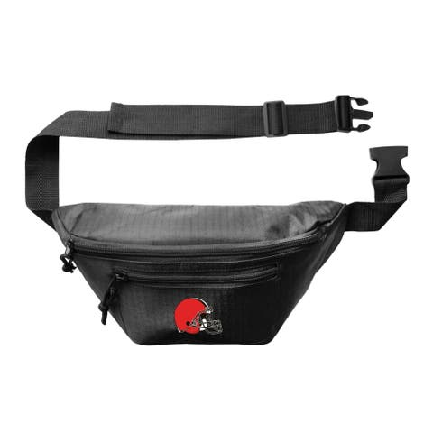 NFL Cleveland Browns Little Earth 3 Zip Hip Pack - Black