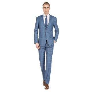 Gino Vitale Men's Check Slim Fit Suits