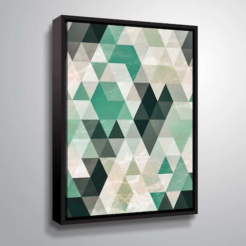 Artwall Triangle Pattern Floater-Framed Canvas