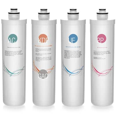 iSpring F4-CUA4 4-Piece Pack for 4-Stage Ultra-Filtration Water Filter System CU-A4