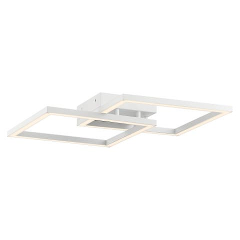 Squared 19-inch White LED Ceiling/ Wall Sconce