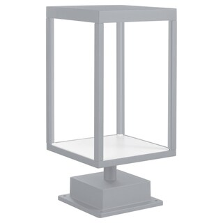 Link to Reveal 1-light Satin Gray LED Outdoor Rectangular Pier Mount, Clear Glass Similar Items in Pier Mount Lights