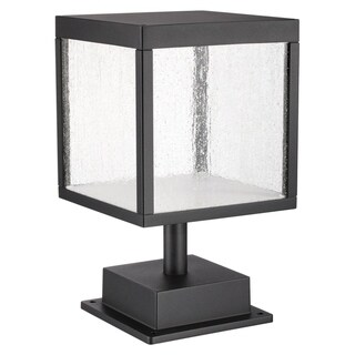 Link to Reveal 1-light Black LED Outdoor Square Pier Mount, Seeded Glass Similar Items in Pier Mount Lights